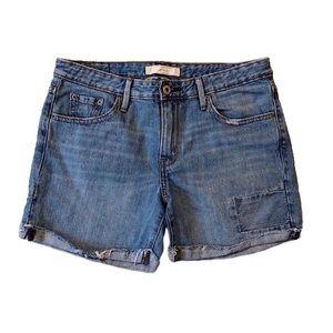Levi's / Blue Cuffed Denim Shorts